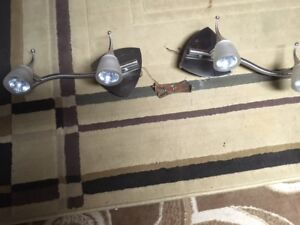 2 roof ceiling lights with bulbs [ halogen ]