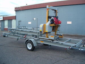 HAWKMILL BANDSAWMILL , TRAILER MODEL/ HYDRAULIC PACKAGE/24 HP
