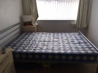 double metal frame bed base with free mattress
