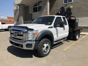 2011 Ford Super Duty F-450 DRW XLT - HIAB CRANE PICKER TRUCK