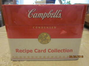 New Campbell's Keepsake Recipe Card Collection  Tin.