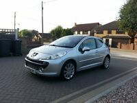 2007 Peugeot 207 1.6 GT, Only 45k, Service History. Panoramic Roof, Long Mot, Ford Focus Size