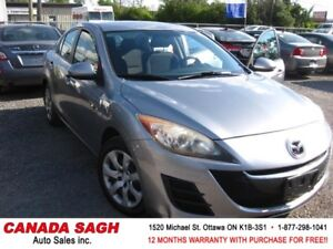 2010 Mazda Mazda3 5SPEEDS/AC/PWR 141km, 12M.WRTY+SAFETY $4990
