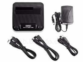 ATA HDD Dock Station with 2-Port Hub + Firewire 1394A/B