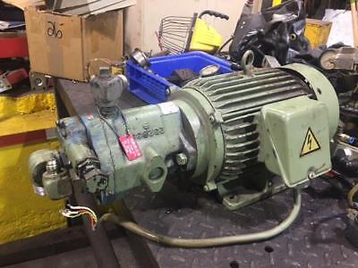 Vickers 3 HP Hydraulic Pump & Motor PVB6-RSY-20-CM-11-JA-S7, Used