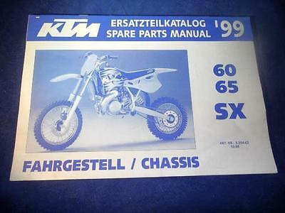 KTM Spare Parts Manual Chassis 1999 60 65 SX