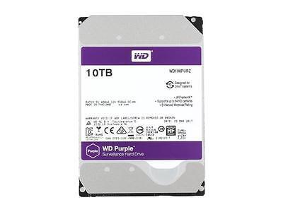 Western Digital 10TB PURPLE Surveillance Hard Drive SATA 6 Gb/s 256MB WD100PURZ