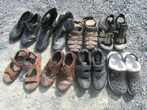 Variety of men's shoes