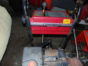 "one well working snow blower master craft 10hp 28"" TUNE UP FET"