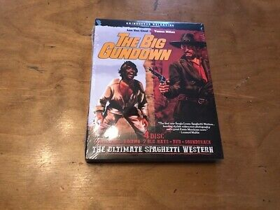 The Big Gundown Blu ray/DVD/CD*Grindhouse Releasing*OOP*Rare*NEW*SLIP*4 Disc*