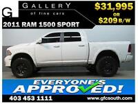 2011 DODGE RAM SPORT LIFTED *EVERYONE APPROVED* $0 DOWN $209/BW!