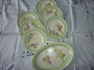 VINTAGE GRINDLEY DELPHINIUM 7 PIECE SANDWICH/CAKE SETTING Toowong Brisbane North West Preview