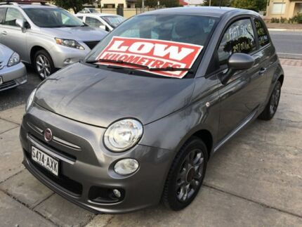 2013 Fiat 500 Series 1 S Dark Silver 6 Speed Manual Hatchback Park Holme Marion Area Preview