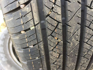 225/55R19 SUMMER TIRES 99% TREAD