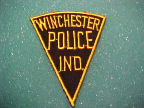 WINCHESTER INDIANA POLICE PATCH SHOULDER SIZE UNUSED