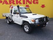 2013 Toyota Landcruiser VDJ79R MY13 GXL White 5 Speed Manual Cab Chassis Winnellie Darwin City Preview