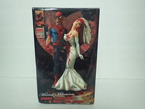 MARVEL MILESTONES ZOMBIES SPIDER-MAN & MARY JANE WEDDING STATUE