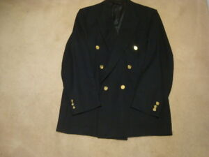 MEN'S BLUE DOUBLE BREASTED BLAZER WITH GOLD BUTTONS 44T
