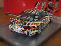 BMW ART CAR 1 18TH SCALE MUSEUM SERIES JEFF KOONS BMW M3