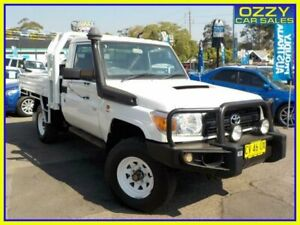 2011 Toyota Landcruiser VDJ79R 09 Upgrade Workmate (4x4) French Vanilla 5 Speed Manual Cab Chassis