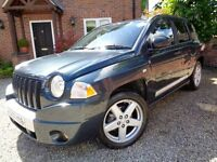 *** ONE FAMILY OWNED 2007 57 JEEP COMPASS 2.0 CRD LIMITED 6 SPEED MANUAL 4WD ****