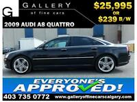 2009 Audi A8 4.2 QUATTRO $239 bi-weekly APPLY NOW DRIVE NOW