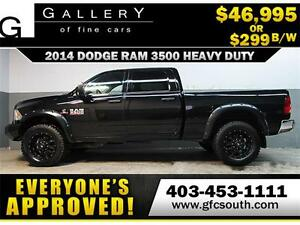 2014 DODGE RAM 3500 LIFTED *EVERYONE APPROVED* $0 DOWN $299/BW!