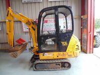 JCB 801.5 Mini Excavator, 2003
