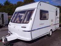 2001 Fleetwood Colchester 380/2 inc a Motor Mover 2 Berth Touring Caravan.
