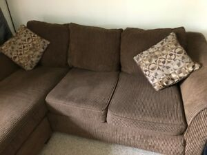 Sectional Couch with Floating Chaise