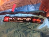 North Face Ladies Sleeping Bag - Cat's Meow 20F Blue