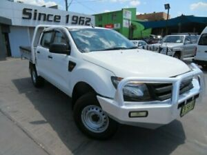 2014 Ford Ranger PX XL 3.2 (4x4) White 6 Speed Automatic Dual Cab Chassis Granville Parramatta Area Preview