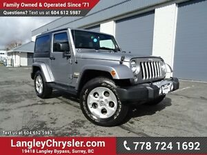 2015 Jeep Wrangler Sahara ACCIDENT FREE w/ 4X4, & NAVIGATION