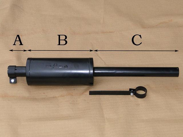 Auspufftopf Auspuff  universal für 1 oder 2 Zylinder Traktor Schlepper 414 Foto 1