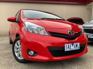 2014 Toyota Yaris NCP131R YRX Red 4 Speed Automatic Hatchback