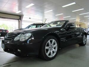 2002 Mercedes-Benz SL500 R230 Black 5 Speed Auto Touchshift Convertible Fyshwick South Canberra Preview
