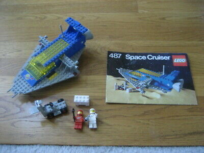 1979 Vintage LEGO Classic Space Set #487 Space Cruiser- COMPLETE w/ Instructions