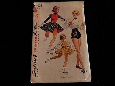 VG Mädchen Skaten Rock Outfit Tanzkostüm 4076 Simplicity Muster Sz 4 Uncut S