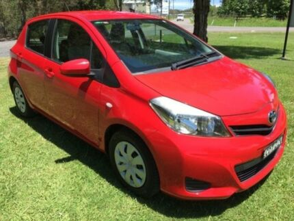2011 Toyota Yaris NCP90R 10 Upgrade YR Red 4 Speed Automatic Hatchback Tuggerah Wyong Area Preview