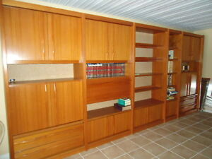 Eames Era, Teak, Denmark Wall Unit, Near new condition Williams Lake Cariboo Area image 1