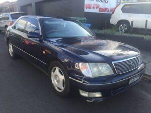 1998 Lexus LS400 UCF20R UCF20R Sedan 4dr Auto 5sp 4.0i Blue 5 Speed Automatic Sedan Croydon Burwood Area Preview
