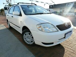 2002 Toyota Corolla ZZE122R Ascent White 5 Speed Manual Hatchback Victoria Park Victoria Park Area Preview