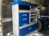 Metal van racking