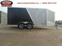 GET THE BEST DEAL ON OUR 2016 AMERALITE 7X19' SNOWMOBILE TRAILER