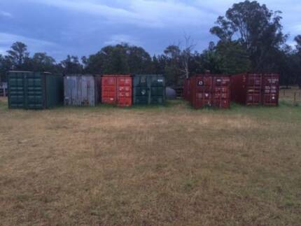 Shipping Container Storage On Rural Property