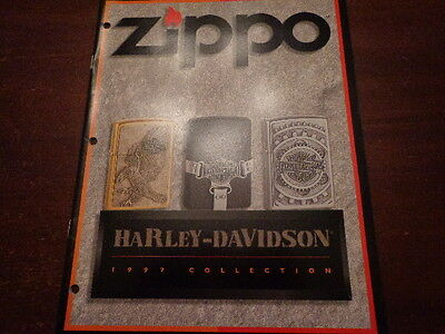 HARLEY DAVIDSON ZIPPO LIGHTER CATALOG 1997 UNUSED