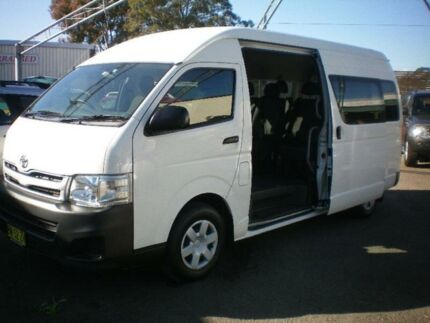 2012 Toyota Hiace TRH223R MY11 Upgrade Commuter White 4 Speed Automatic Bus Newcastle 2300 Newcastle Area Preview