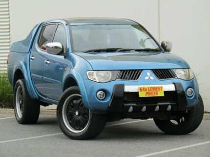2009 Mitsubishi Triton ML MY09 GLS Double Cab Blue 5 Speed Manual Utility Melrose Park Mitcham Area Preview