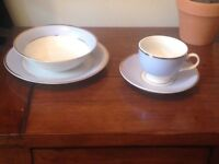 Royal Doulton 2004 Bruce Oldfield Tea Set - Cup Saucer, Bowl, Side Plate - 4 sets - 16pcs