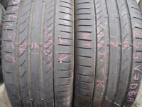 235/45/17 Continental ContiSportContact 5 x2 A Pair, 6.1mm (454 Barking Rd, Plaistow, E13 8HJ) Used